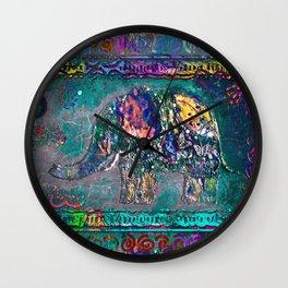 Fantastic elephant Wall Clock