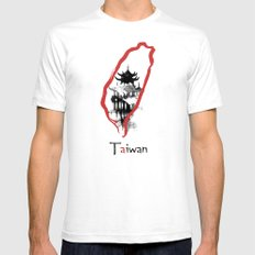Taiwan, Taipei Mens Fitted Tee White SMALL