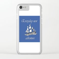 everyday new adventure Clear iPhone Case