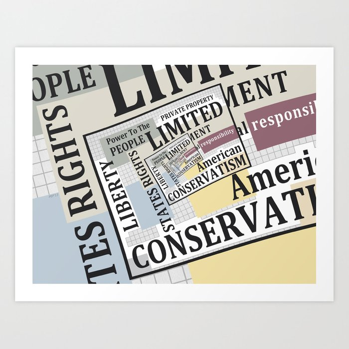 Limited Government Art Print