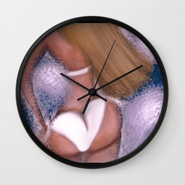 Girl of summer Wall Clock