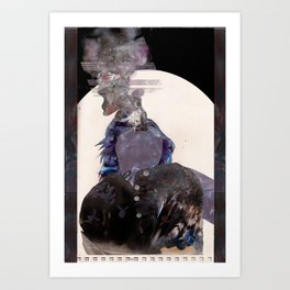 Smoking Lady Art Print