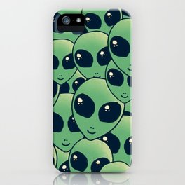 Alien green iPhone Case