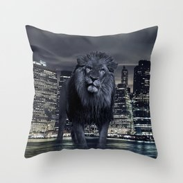 King of the City Throw Pillow