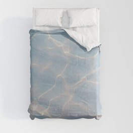 Crystalline Sea - Iridescent Blue Comforters