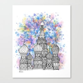 Splash | Moscow Canvas Print