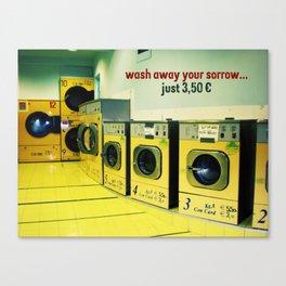 wash away your sorrow... Canvas Print