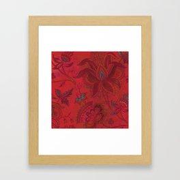 Jacobean Red Framed Art Print