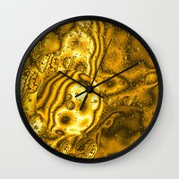 saturn Wall Clocks featuring Saturn by Brian Raggatt