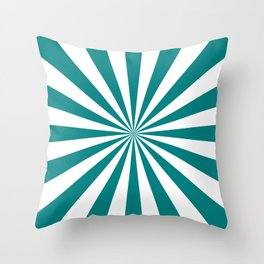 Starburst (Teal/White) Throw Pillow