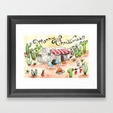 Airstream Christmas Framed Art Print