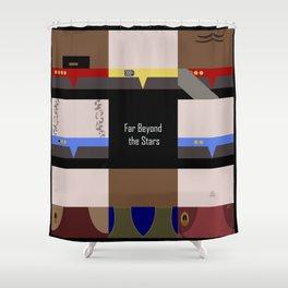DS9 - Far Beyond the Stars - square - Minimalist Star Trek DS9 Deep Space Nine - Crew Shower Curtain