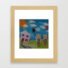 We're Glad it never Rained today Framed Art Print