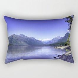McDonald Lake In Glacier National Park Rectangular Pillow