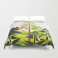 parrot Duvet Covers featuring Parrot by Chicokids