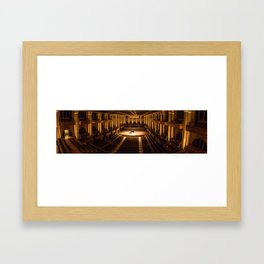 concert photography panorama Framed Art Print