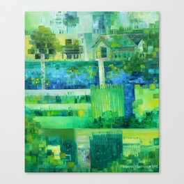 Monetcraft aka. the Advent of Pixelism Canvas Print