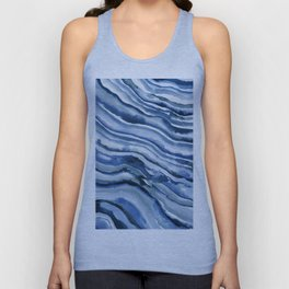 Watercolor Waves Painting Unisex Tank Top