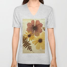 Dried Flowers Unisex V-Neck