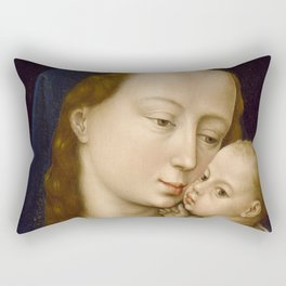 Madonna and Child Rogier van der Weyden Virgin Mary Rectangular Pillow