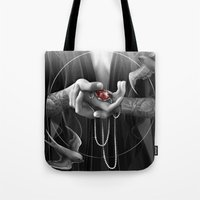 passion Tote Bags featuring Passion by Nicolas Jamonneau