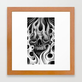 Skull & Smoke Framed Art Print