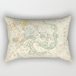 Vintage Map Print - 1822 - Alexander Jamieson - Ursa Minor - Little Bear Rectangular Pillow