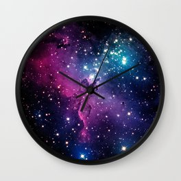 Blue Universe with stars Wall Clock
