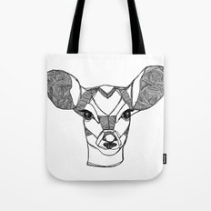 Monochrome Deer by Ashley Rose Tote Bag