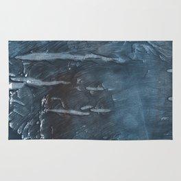 Dark slate gray colorful watercolor Rug