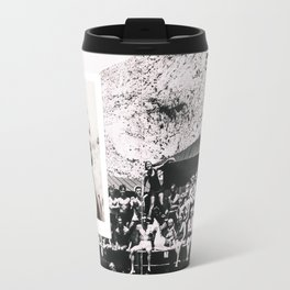 Hipsters from 1970. Travel Mug