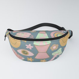 Retro Vibes in Blue Fanny Pack