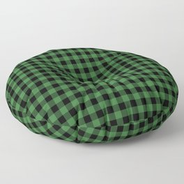 Classic Green Country Cottage Summer Buffalo Plaid Floor Pillow