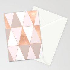 GEO TIKKI - ROSEGOLD PASTEL Stationery Cards
