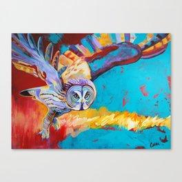 Gray Owl Canvas Print