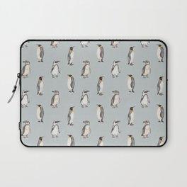 Watercolour penguins - blue version Laptop Sleeve