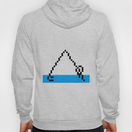 Pixel Art Yoga Downward Dog Pose Hoody