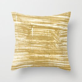 Aztec Gold Throw Pillow