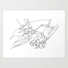 Caress & Crush Art Print