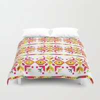 ethnic Duvet Covers featuring Eastern Ethnic  by VessDSign
