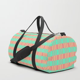 Basketwork Pattern Pastel Colors Duffle Bag