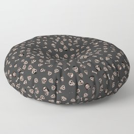 Skull Town (on Charcoal Grey Background) Floor Pillow
