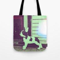 puppy Tote Bags featuring Puppy by Karolis Butenas