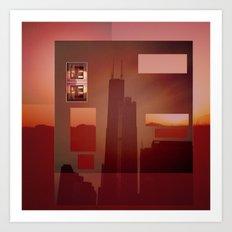 Solstice City Art Print