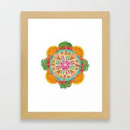 Summer Mandala on white Framed Art Print
