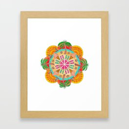 Summer Mandala on white Framed Art Print