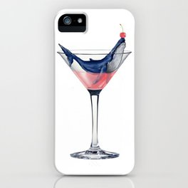 Whale Martini iPhone Case