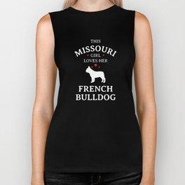 This Missouri Girl Loves Her French Bulldog Biker Tank