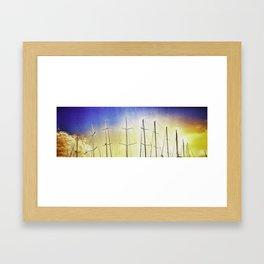 Alberi sul mare Framed Art Print