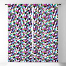 21s Century Memphis Style Pattern – Neon Blackout Curtain